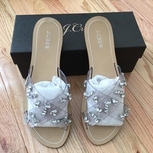 J Crew Cyprus Crystal Sandals size 12 worn once